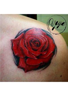 Realistic rose tattoo #yayatattoo