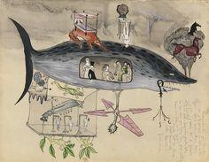 "Leonora Carrington  ""Tiburón,"" c. 1942"