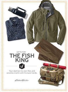 Gifts for the dad who ties his own flies and wrestles marlin with his bare hands.
