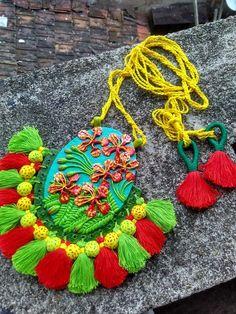 - Hobbies paining body for kids and adult Tassel Jewelry, Fabric Jewelry, Flower Jewelry, Terracotta Jewellery, Ceramic Jewelry, Plastic Earrings, Diy Earrings, Polymer Clay Necklace, Bohemian