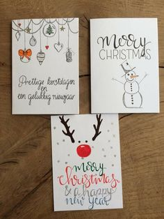 Christmas Decorations Drawings, Christmas Cards Drawing, Christmas Doodles, Watercolor Christmas Cards, Christmas Card Crafts, Homemade Christmas Cards, Xmas Cards, Christmas Art, Homemade Cards