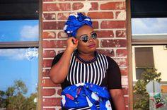 Shades of Blue & Black Stripe