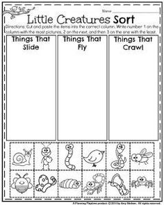 May Kindergarten Worksheets - Sort and Compare Measurement