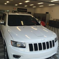 2016 Jeep Grand Cherokee . Front end protected with SolarGard clearshield pro film.  Hood, fenders, grille, bumper and rockers