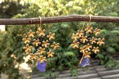 Sterling 925 silver amethyst flower earrings Flower Earrings, Bird Feeders, Wind Chimes, 925 Silver, Amethyst, Jewellery, Outdoor Decor, Flowers, Home Decor