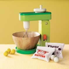 A Mixer! with flour and butter balls! from Land of Nod