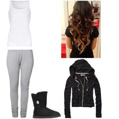 A fashion look from November 2014 featuring Abercrombie & Fitch hoodies, American Vintage tops and Emoi leggings. Browse and shop related looks.