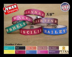 Custom made Wristbands Personalized Wristbands by PitkaLeather