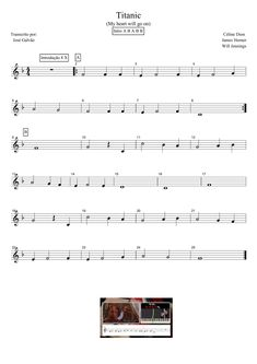 Titanic - My heart will go on - Partitura para flauta