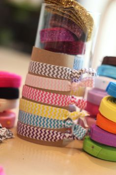 Make your own hair ties for less than a quarter each. I'm doing this Emi Jays are so ridiculously expensive!