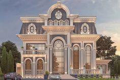 Project – Maram Group Classic House Exterior, Classic House Design, Modern Exterior House Designs, House Front Design, Dream House Exterior, Modern House Plans, Modern House Design, Villa Design, Facade Design