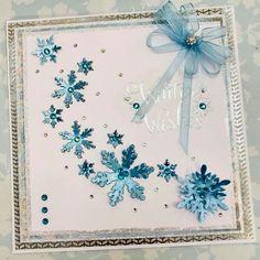 Christmas Cards 2018, Christmas Wishes, Xmas Cards, Holiday Cards, Snowflake Cards, Christmas Snowflakes, Handmade Christmas, Christmas Crafts, Crafters Companion Christmas Cards
