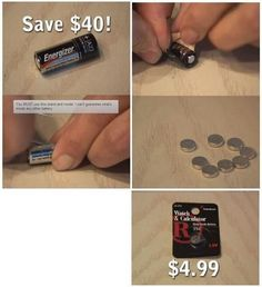 Save money on watch batteries