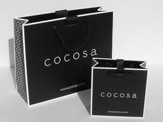 Cocosa bag - Black & White sturdy gift bags with matt lamination