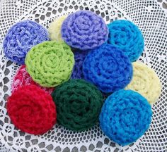 4 Hand Crocheted Dish Scrubbies Kitchen Handmade by My Mom from 8 Continuous Yards of Nylon Netting (Your Choice of Colors) Hand Crochet, Knit Crochet, Crochet Scrubbies, Craft Items, Knit Patterns, Crochet Projects, Christmas Gifts, Christmas Time, Crochet Necklace