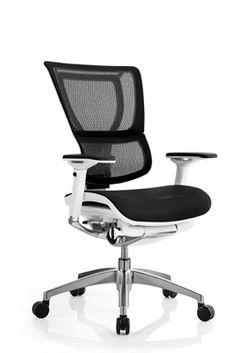 Eurotech IOO Mesh Executive Chair W White Frame Bocaofficefurniture