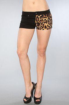Tripp NYC The Split Leg Short in Black and Leopard : Karmaloop.com - Global Concrete Culture
