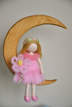 Waldorf inspired needle felted doll mobile: The by MagicWool