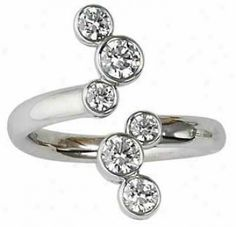Contemporary Right Hand Diamond Rings | Brilliant Right Hand Rings - 14k White Gold Contemporary Right Hand ...