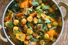1 Pot Chickpea Sweet Potato Spinach Curry - Vegan Richa