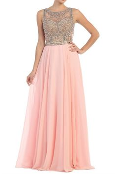 Sheer Jeweled Sweetheart Chiffon Long Prom Dress