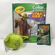 Star-Wars-Yoda-Gift-Set-Fluffball-Jelly-Belly-Beans-Crayola-Color-Book-Ornament
