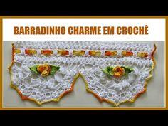 BARRADINHO CHARME EM CROCHÊ - YouTube