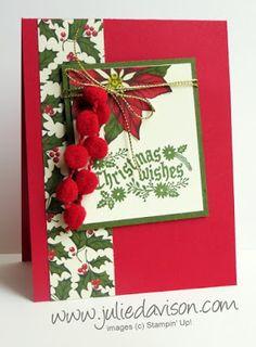 Stampin' Up! Cozy Christmas + Home for Christmas Designer Paper Card #christmas #stampinup 2015 Holiday Catalog + Retiring List Announced www.juliedavison.com