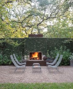 Outdoor fireplace garden style