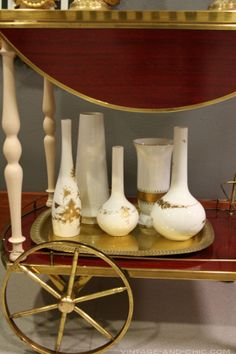 jarrones rosenthal vintage porcelana alemana y camarera vintage