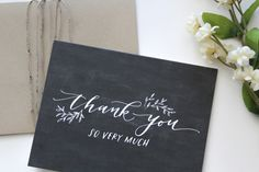 Thank You Cards - Brown Fox Calligraphy