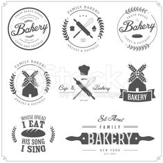 Vector illustration of bakery labels royalty-free stock vector art