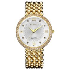 8baaf51d8ac A classy timepiece from Crrju with a durable Stainless Steel Strap. An  Elegant Womens Fashion