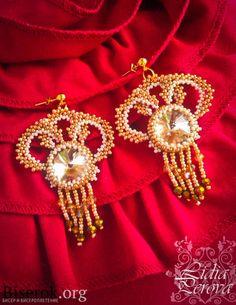 boucles d'oreilles avec des perles rivoli circuit boucles d'oreilles de la…