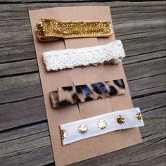 Glam Hair Clips set of FOUR  by TheLittleAnchorShop on Etsy, $6.00