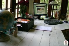 Rustic Office Desk: Pottery Barn Style