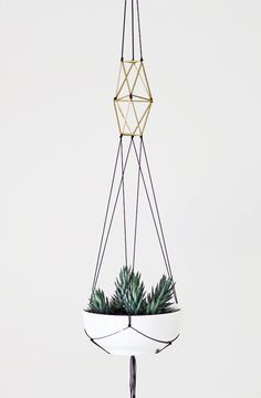 modern macrame plant hanger... would love to re make my hemp one