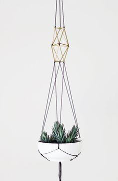 modern macrame plant hanger