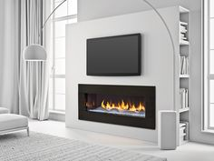 Designed specifically for Heat & Glo by renowned sculptor and designer Elisa Carlucci, the white logs of The Dunes transform the modern PRIMO fireplace into a gallery of sculpture, further enhancing the interaction of light and shadows.