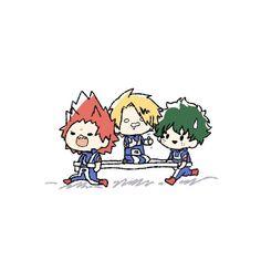 boku no hero chibi // kirishima, kaminari & midoriya My Hero Academia Shouto, My Hero Academia Episodes, Hero Academia Characters, Anime Characters, Anime Chibi, Kawaii Anime, Anime Guys, Anime Meme, Cool Animes
