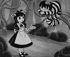 """Alice (angel) in wonderland"" - Joey drew studios I can see this happening tbh (fanart) Vintage Cartoons, Old Cartoons, Bendy And The Ink Machine, Cartoon Kunst, Cartoon Art, Desenhos Tim Burton, Madara Wallpapers, Decoration Buffet, Horror Cartoon"