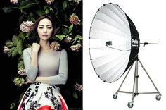 Giant Parabolic Umbrella Top 10 Fashion Photography Lighting Tools | Zhang Jingna - Fashion, Fine Art, Beauty, Commercial Photography Blog