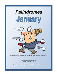 Palindromes for January--A free download - Pinned by @PediaStaff – Please visit http://ht.ly/63sNt for all (hundreds of) our pediatric therapy pins