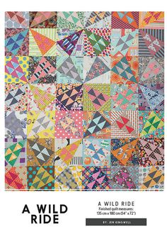 A Wild Ride by Jen Kingwell by ModernQuilter on Etsy