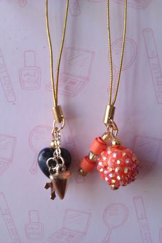 Phone charms made by me at Dippy Dandelion