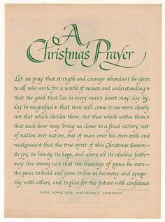 New York Life Insurance Christmas Prayer (1963)