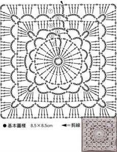 Watch The Video Splendid Crochet a Puff Flower Ideas. Phenomenal Crochet a Puff Flower Ideas. Crochet Motif Patterns, Granny Square Crochet Pattern, Crochet Diagram, Crochet Chart, Crochet Squares, Granny Squares, Point Granny Au Crochet, Crochet Square Blanket, Crochet Blocks