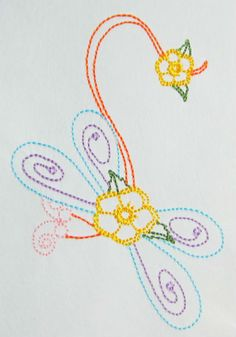 Color work Dagonfly machine embroidery by CocobeanBoutique on Etsy, $3.50 Applique Designs, All Design, Machine Embroidery, I Shop, Crochet Necklace, Patches, Artwork, How To Make, Etsy
