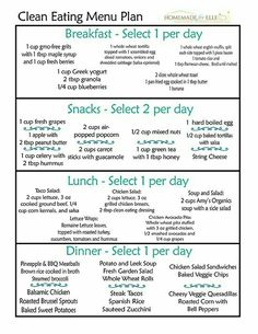 Healthy Diet Clean Eating Meal Plan - Are you wanting a free clean eating meal plan that is easy to use? I've got you covered! With this clean eating meal plan pdf, print it or save to your pc! Clean Recipes, Diet Recipes, Healthy Recipes, Clean Foods, Clean Meals, Snack Recipes, Breakfast Recipes, Advocare Recipes, Weekly Recipes