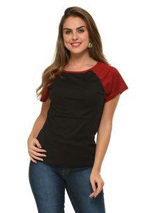 1787d4fc37b2 frenchtrendz cotton raglan black maroon cap sleeves #top Cap Sleeves
